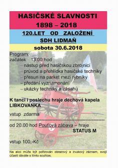 Oslava 120. let SDH Lidmaň